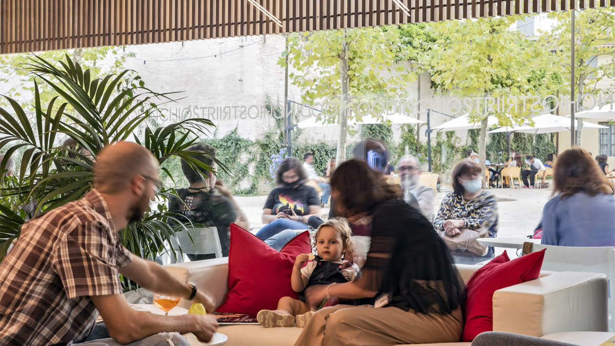 Lo spazio di ristorazione interno